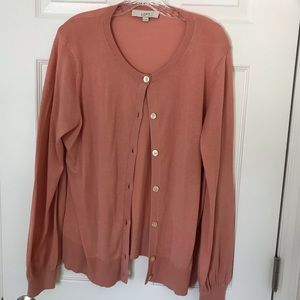 NWOT, Loft Cardigan, XL, Coral, Never worn.